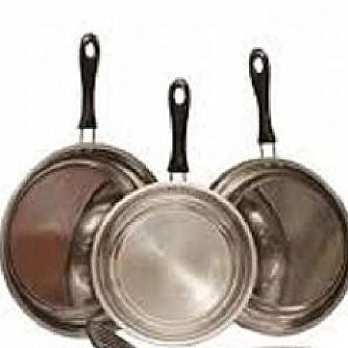 Set Of 3 Stainless Steel Frying Pan