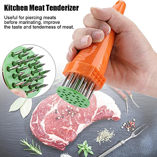 Home Kitchen Poultry Tenderizer Beef Steak Carrot Shape Loose Meat Needle Tool