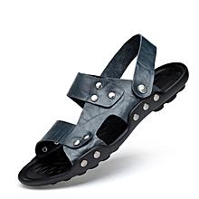33e2f2b04db8 EUR Size 36-47 Men Sandals Men Summer Shoes Full Grain Leather Men Beach  Sandals