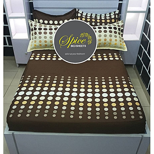 Brown Bedsheet With Pillow Case(s)