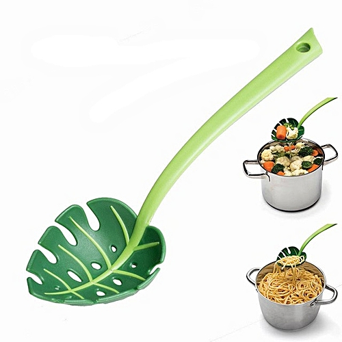 Kitchen Tools Jungle Noodles Spoon Colander Salad Spaghetti Spoon Leaf Spoon