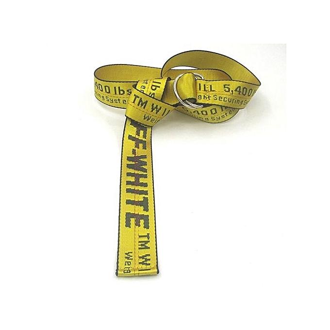Wrap Arounds Waist Women & Men Off White Belt - Yellow
