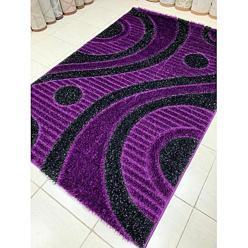 Shaggy Centre Rug(5*7ft ,4*6ft) Purple