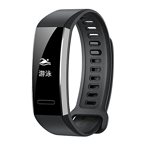 Fashion Watch Silicone Replacement Band Wrist Strap For Huawei Band 2/Band 2 Pro Smart Watch-Black