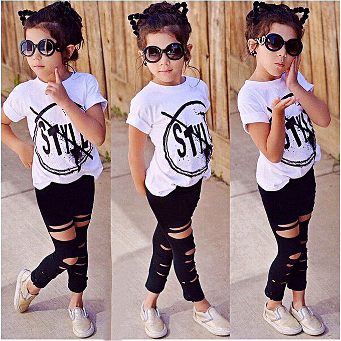 0b538449668f3 Fashion Cute Baby Girl Clothes Tops Long Pants Legging Outfits Sets ...