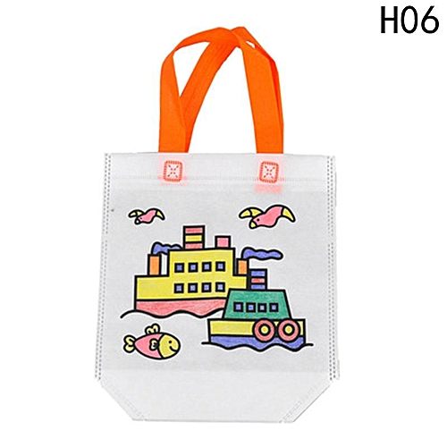 Eleganya Portable Pens Lovely Sticker Hand Drawing Bag Creativity Doodle Painting Materials Suit H06