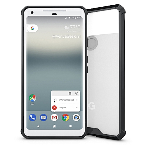official photos 666e2 c09a9 For Google Pixel 2 XL Acrylic + TPU Shockproof Transparent Armor Protective  Back Cover Case(Black)