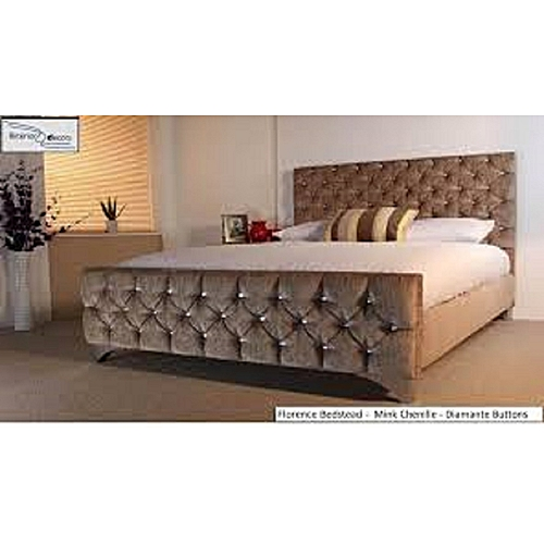 Quin Bed Frame In All Sizes (mattress, Dressing Mirror Set & Foot Rest Available On Request), DELIVERY IN LAGOS.