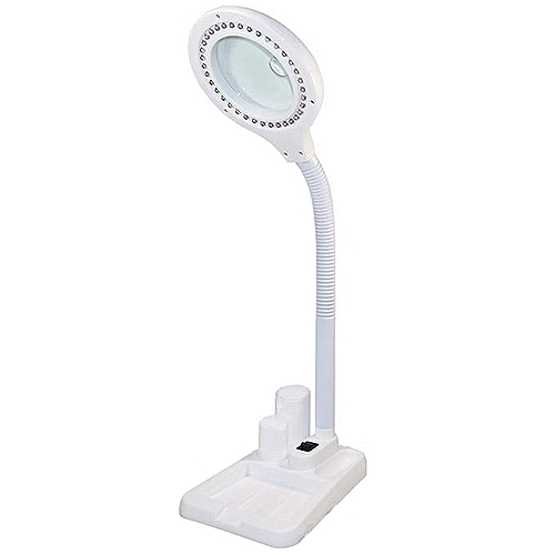 Led Magnifying Lamp, 5 X 10X Magnifier And Table & Desk Lamp, Portable Adjustable Magnifying Gl With Light For Seniors Read