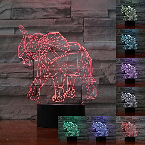 3D Night Light Touch / Remote Control Table Lamp LED Gift