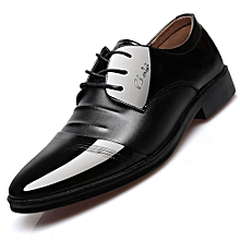 low priced 03679 c147f Super Size Men  039 s Dress Classic Lace Up Leather Slip Casual Shoes On
