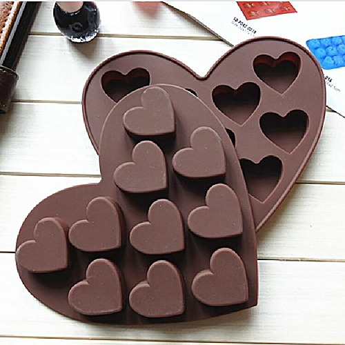 Watermalend Silicone Ice Cube Tray Easy Pop Maker Heart Shape Cubes Mould Valentines Gift
