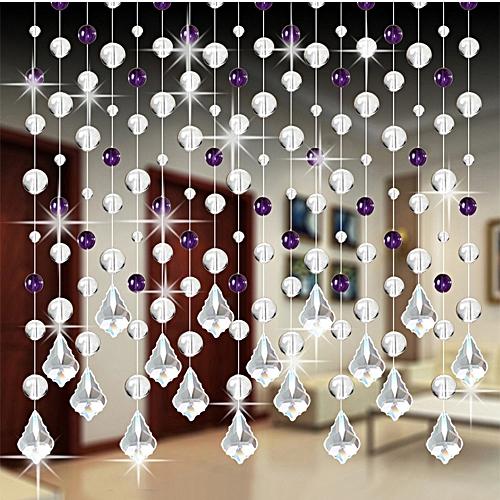 30mm Crystal Bead Curtain Luxury LivingRoom Bedroom Wedding Decor DIY Pendant CL