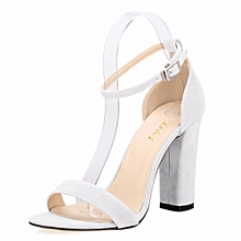 5e87397a1fd171 Newest Women Open Toe Sexy Ankle Straps Sandals High Heels Summer Ladies  Bridal Suede Thick Heel