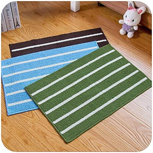 Home-Stripe Plain 43*65cm Soft Feet Memory Foam Bathroom Bedroom Floor Shower Mat Green