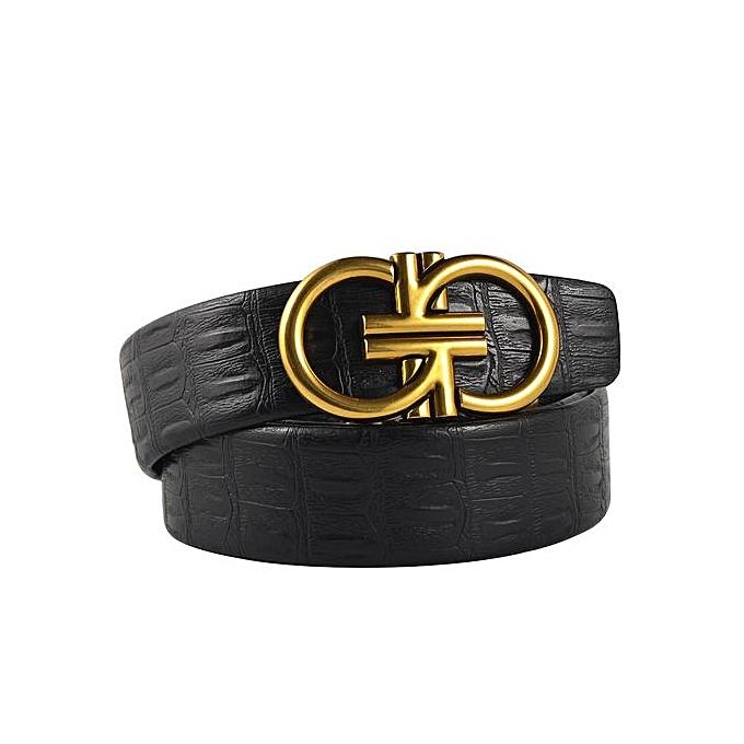 fee19b56fd9d Men's Belts Leather Belt With Automatic Buckle-black
