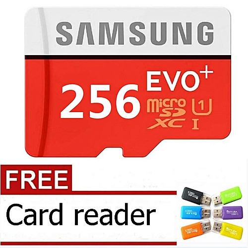 Generic 256GB Calss10 Micro Memory SD Card With Adaptor-Samsung Red