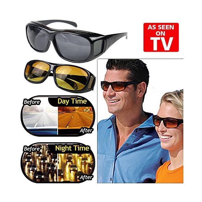 58852670bda8 Vision 2pcs HD Vision Wraparound Day & Night Driving Glasses | Jumia NG