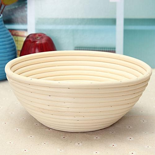 "22cm/8.6"" Round Banneton Brotform Dough Bread Proofing Proving Rattan Basket E78"