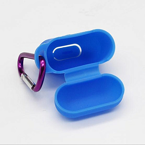 Silicone Wireless Earphone Headphone Carrying Case Cover Skin Sleeve Pouch Blue