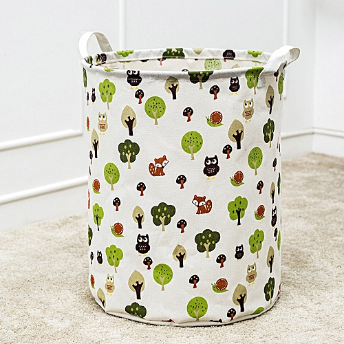Waterproof Canvas Laundry Clothes Basket Storage Basket Folding Storage Box D