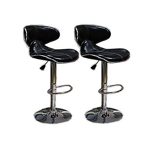 Modern Stainless Bar Stool - Set Of 2 (Lagos Delivery Only)