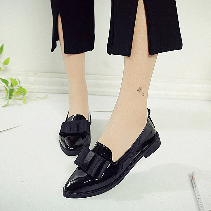 7da282ccf Women Pointed Toe Oxford Shoes Casual Comfortable Slip Flat Shoes (UK Size)