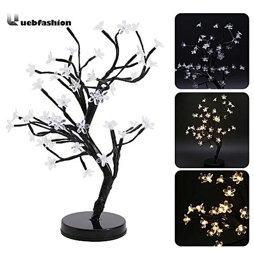 LED Cherry Blossom Bonsai Tree Fairy Twig Lights Table Floor Lamps