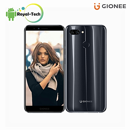S11 Lite 5.7-Inch HD 18:9 Full Screen (4GB,32GB ROM) Android 7.1 Nougat, (13MP + 2MP) + 16MP, Hybrid Dual SIM 4G LTE Fingerprint ID Smartphone - Black