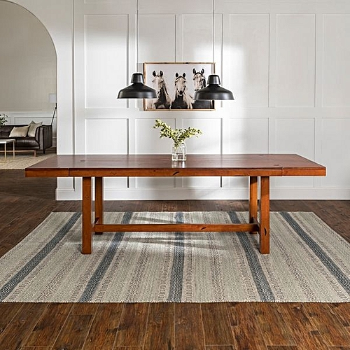 Rustic Wood Dining Table- Wenge