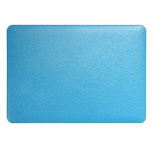 XSKEMP Shockproof Hard Cover For Macbook Air 13 PU Leather Silk Print Laptop Shell + Keyboard Cover Blue