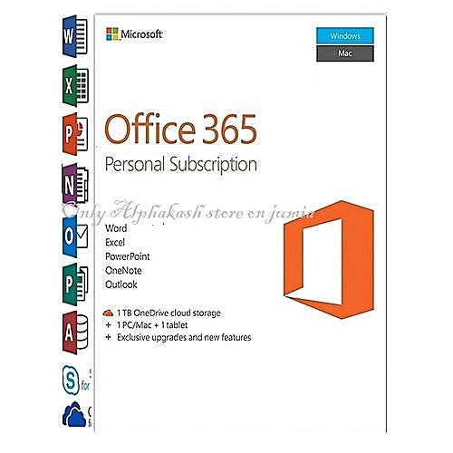 Office 365 Personal Download Version / No Physical Cd