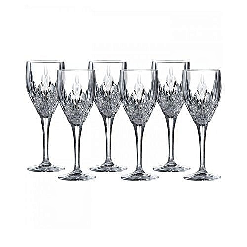 Retro Crystal Wine Glass Cup - 6 Pieces