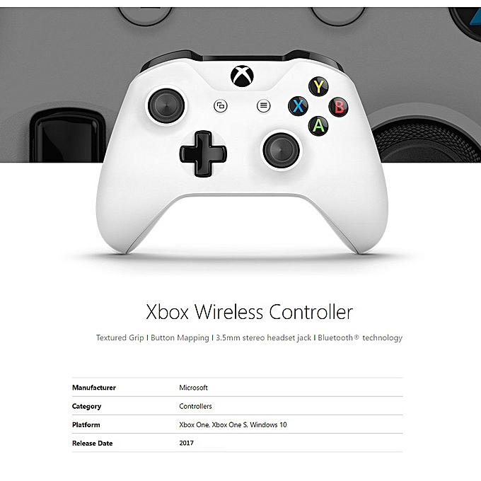 Microsoft Xbox One/One S/One X Controller