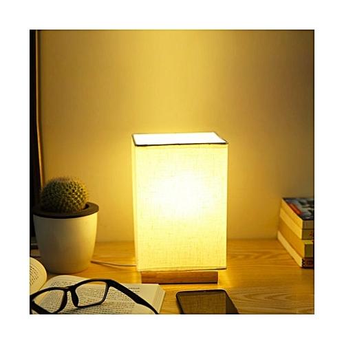Wood Base Decoration Desk / Table / Bedside Lamp With Plug