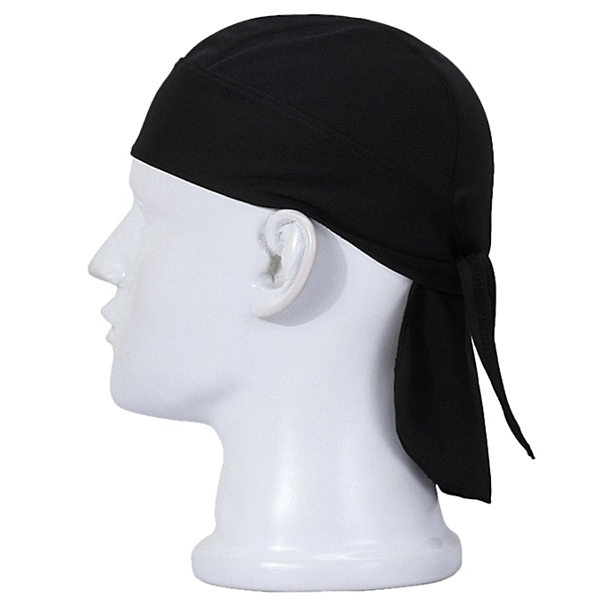 Men Women Outdoor Cycling Mask Skull Scarf Doo Rag Bandana Cap Hat Black