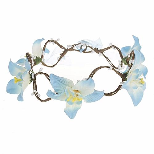 Big Flower Pearl Headband Wedding Bridal Cloth Chrysanthemum Hairband Bride Holy Hair Accessories Jewelry