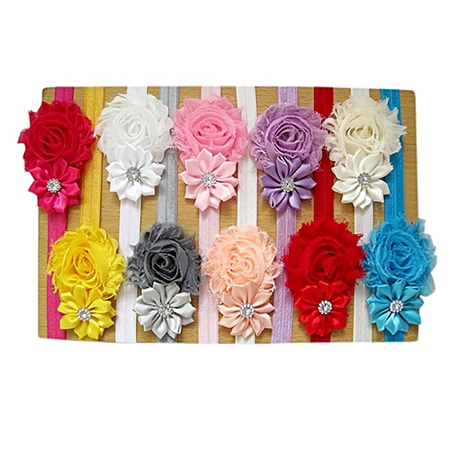 5pcs Lovely Hair Band Baby Girl's Headbands Chiffon Hair Flower Item Type Head For Baby