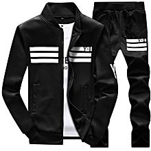 Fashion Spring Autumn Men Hoodies Sports Suit Casual Solid Baseball Jacket  Y8 Print Coat+trousers af585620bb4