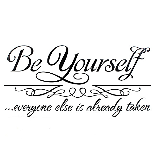 Quote: Be Yourself Removable Vinyl Wall Decal Art Sticker Home Room Decor Decal