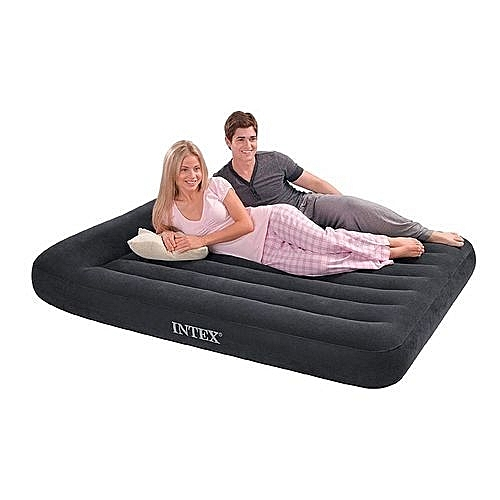 Pillow Rest Air Mattress Inflatable Portable Bed With Pump 2 Person