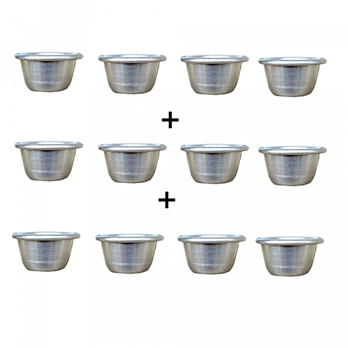 12-Pieces Moin Moin Bowls With Lid - Small