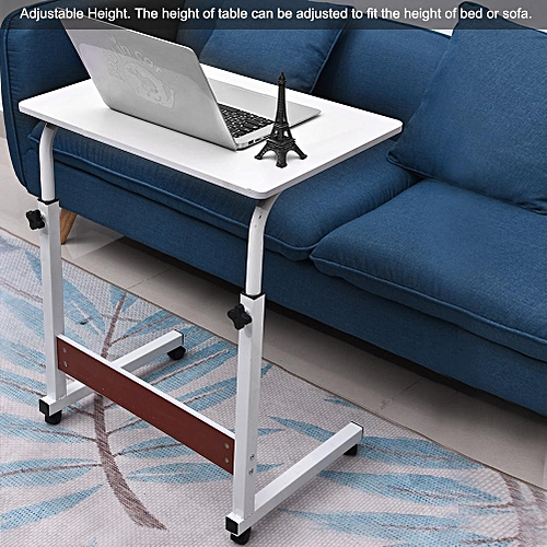 Height Adjustable Laptop Table Computer Desk Stand Bed With Wheels 60*40CM