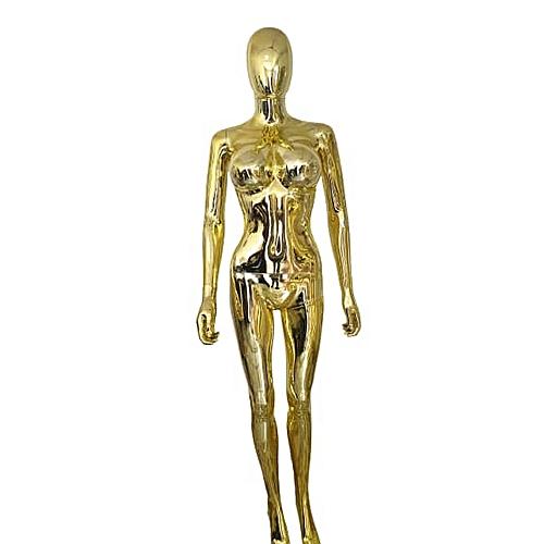 Female Egghead Mannequin - Gold