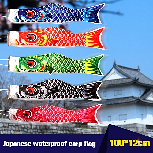 100cm Red/Pink/Blue/Black/Green Anime Koinobori Carp Windsock Fish Kite Outdoor Banner Flags Home Party Decorations