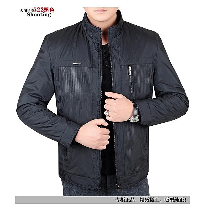 b4d343f354f Jacket Men Fashion Casual Slim Mens Jacket Bomber Zipper Stand Collar  Jacket Mens Jackets And Coats
