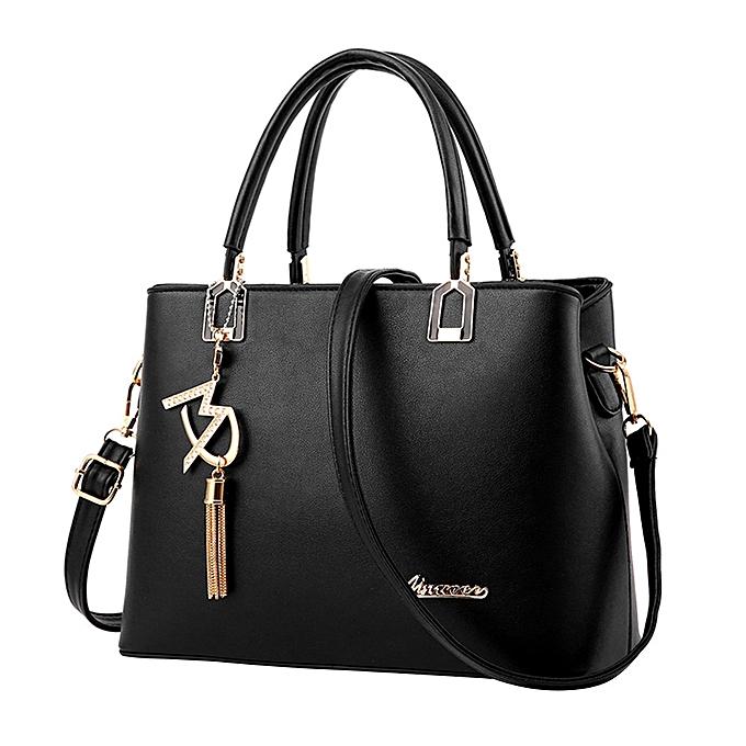 0f8606586c41 New Ladies Ladies Bag Simple Handbag Shoulder Bag Large Bag Messenger Bag