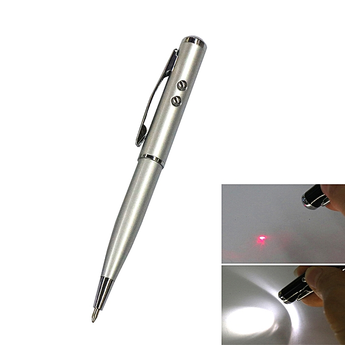 Stylus Pens At-15 Laser / Led Lights Four-In-One - Silver