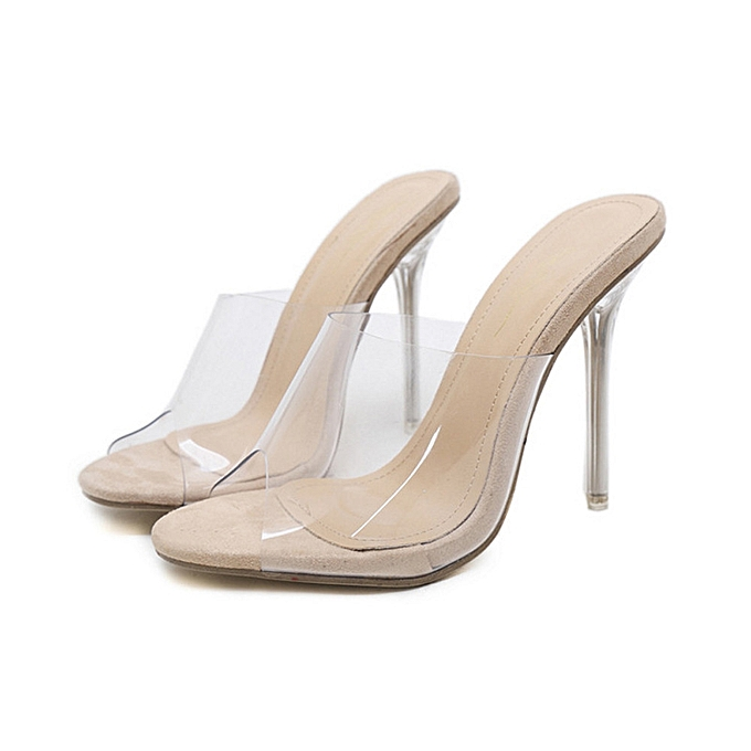 092912cdef4eed Bliccol High Heel Shoes Fashion Women Sandals Summer Shoes Party Crystal  Transparent Hhigh Heel Slippers-