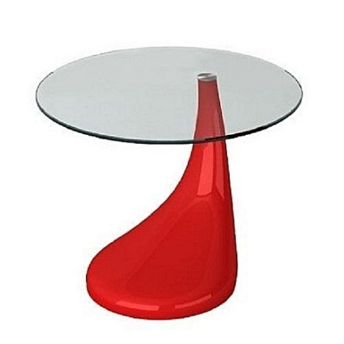 Contemporary Glass Side Table - Plain Top